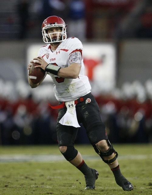 Trent Nelson  |  The Salt Lake Tribune Utah quarterback Jon Hays during the first half as Utah faces Arizona, college football at Arizona Stadium in Tucson, Arizona, Saturday, November 5, 2011.
