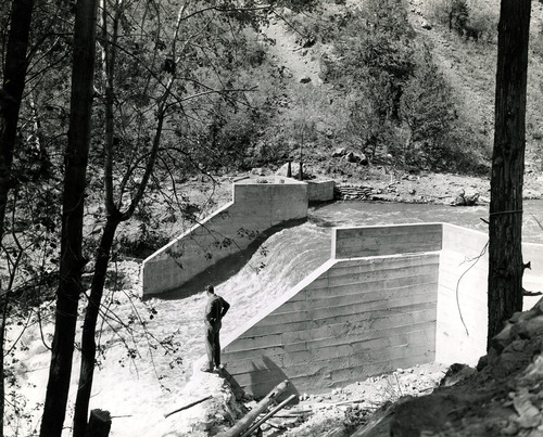 Tribune file photo  This 1943 photo from the Works Progress Administration shows the diversion dam for a power plant in Beaver.