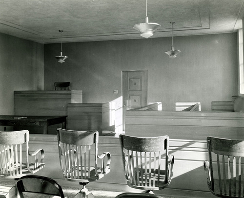 Tribune file photo  This 1943 photo from the Works Progress Administration shows a courtroom in Cedar City.