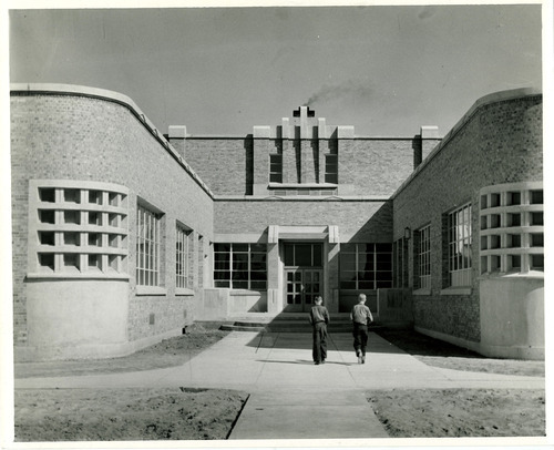 Tribune file photo  This 1943 photo from the Works Progress Administration shows a school in Marriott-Slaterville in Weber County.