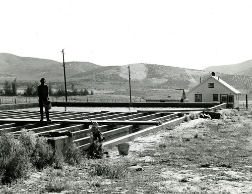 Tribune file photo  This 1943 photo from the Works Progress Administration shows a fish hatchery in Fountain Green.