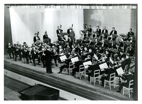 Tribune file photo  This 1943 photo from the Works Progress Administration shows the Utah Symphony. The original caption on the photo says: