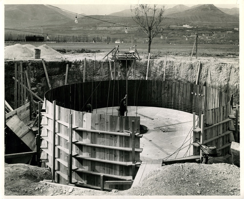 Tribune file photo  This 1943 photo from the Works Progress Administration shows the construction of a sewage treatment facility in Magna.