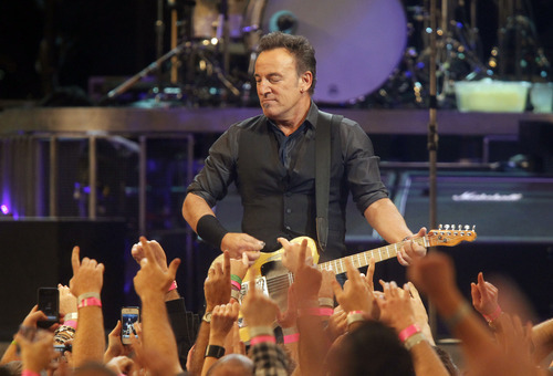 Bruce Springsteen performs with the E Street Band during a concert at Madison Square Garden, Friday, April 6, 2012 in New York. Research from the University of Utah shows that music, such as singing the final verse of Bruce Springsteen's