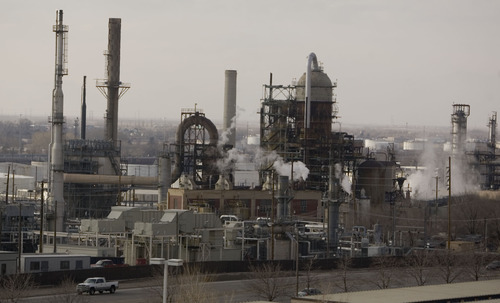 Tribune file photo Tesoro Corp.'s refinery in Salt Lake City.
