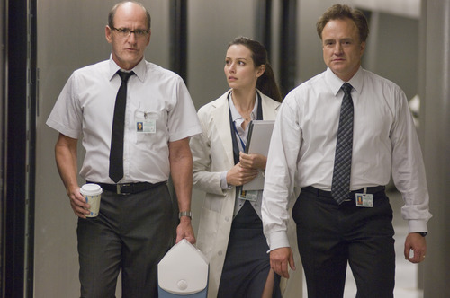 In this film image released by Lionsgate, from left, Richard Jenkins, Amy Acker and Bradley Whitford are shown in a scene from