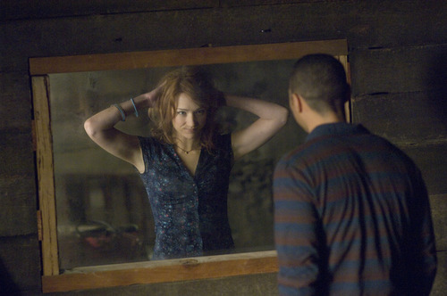 In this film image released by Lionsgate, Kristen Connolly and Jesse Williams are shown in a scene from