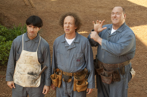 In this image released by 20th Century Fox, from left, Chris Diamantopoulos, Sean Hayes and Will Sasso are shown in a scene from