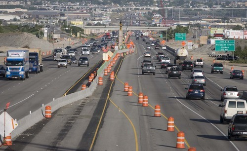Tribune file photo Traffic in Utah County makes its way along I-15 in this file photo of the massive construction project that is entering its final months. The work is now entering a new phase focusing on interchange reconstruction.
