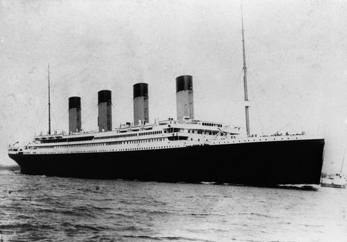 AP file photo  The Titanic sets sail in 1912.