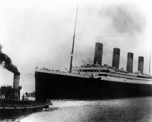 AP file photo  The British liner Titanic sails out of Southampton, England, at the start of its doomed voyage on April 10, 1912. The ship struck an iceberg and sank on April 14-15, killing more than 1,500 of the 2,200 people aboard, many of them because there weren't enough lifeboats.