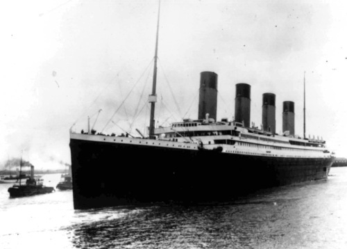 AP file photo  The liner Titanic leaves Southampton, England on her maiden voyage Wednesday, April 10, 1912.