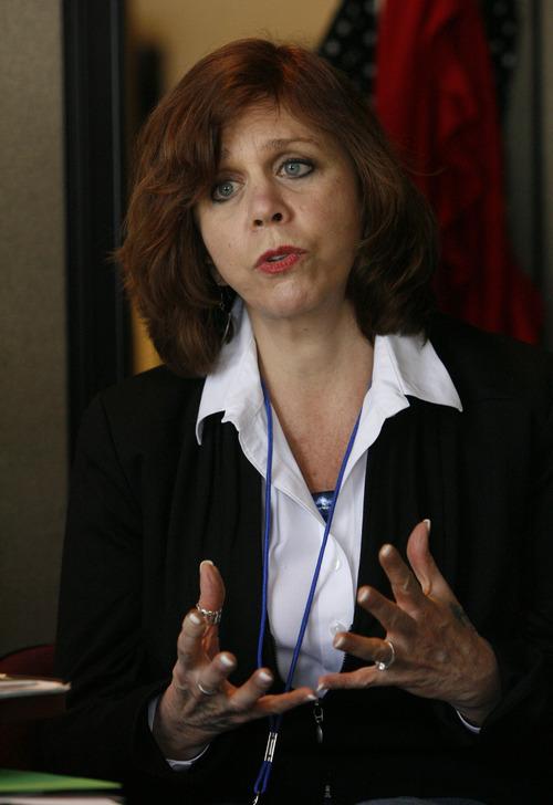 Scott Sommerdorf     The Salt Lake Tribune              Peg Coleman is the new executive director of the Utah Domestic Violence Coalition.