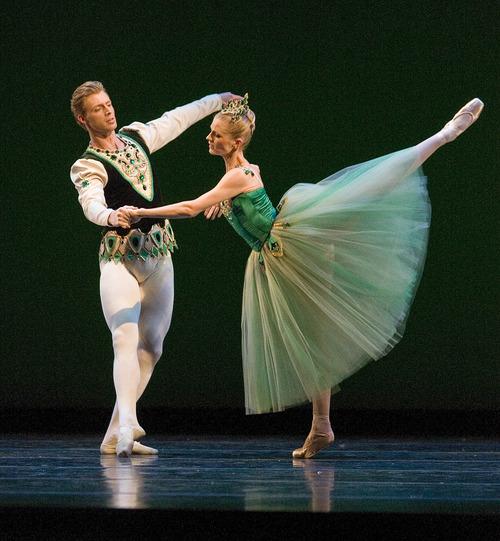 Paul Fraughton   The Salt Lake Tribune  Ballet West dancers Easton Smith and Haley Henderson performing