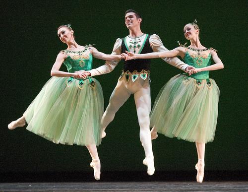 Paul Fraughton   The Salt Lake Tribune.  Ballet West dancers performing during dress rehearsal for