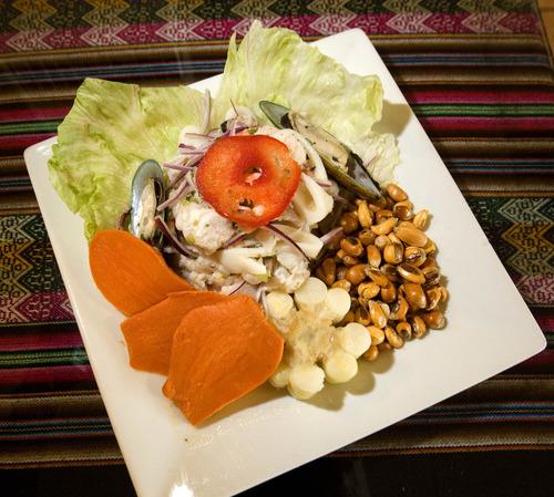 Paul Fraughton | The Salt Lake Tribune Ceviche de Pescado is served at El Rocoto in West Valley City.