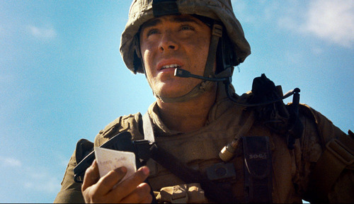 Zac Efron is shown in a scene from