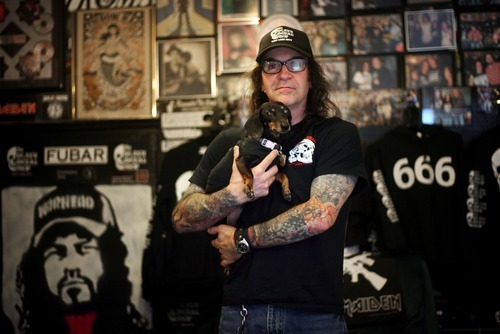 Kim Raff | The Salt Lake Tribune    Kevin Kirk is owner of Heavy Metal Shop in Salt Lake City, which is celebrating its 25th anniversary this year.