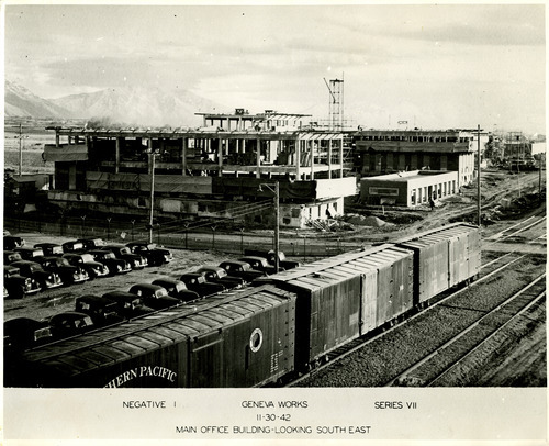 Tribune file photo  Construction at Geneva Steel is underway in this photo from 1942.