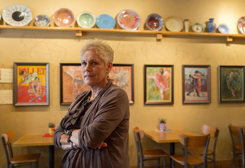 Trent Nelson  |  The Salt Lake Tribune Pam O'Mara, who owns Utah Artist Hands, an art gallery, and The Artful Cup coffee shop on 100 South across from the west side of the mall, says,