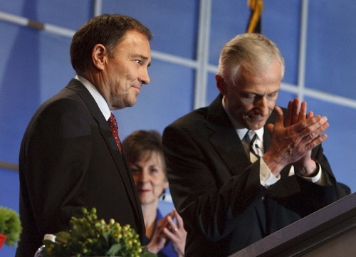 Leah Hogsten  |  The Salt Lake Tribune Utah Governor Gary Herbert won the nomination with 63.26% of the vote. The Utah Republican Party held its nominating convention Saturday, April 21 2012, in Sandy at the South Towne Exposition Center.