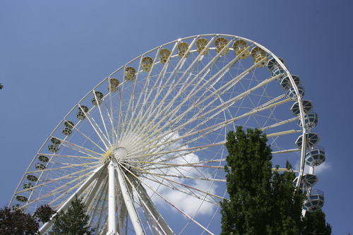 The gigantic Ferris Wheel at Lagoon is one of the park's landmark rides. Courtesy of Lagoon