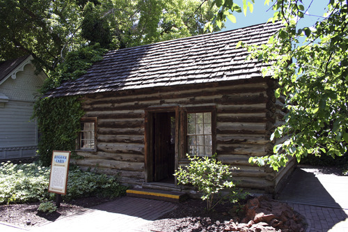 The Bingham Cabin at Pioneer Village is one of many historic buildings from around Utah preserved at Lagoon. Courtesy of Lagoon