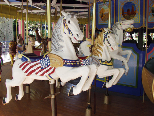The merry go round at Lagoon is one of the oldest of its kind in the U.S. Courtesy of Lagoon
