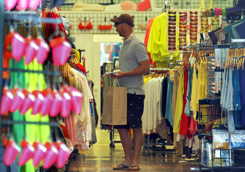 (AP Photo/Reed Saxon) Consumer confidence is widely watched because consumer spending accounts for 70 percent of economic activity.  In Utah, the confidence index is closing in on 90, a reading that indicates a healthy economy.