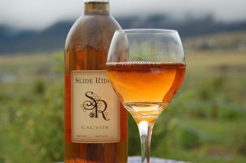 Courtesy of Slide Ridge Honey Slide Ridge Honey, in Mendon, has produced an amber-colored honey- apple wine call CaCysir.