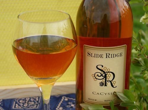Slide Ridge Honey, in Mendon, has produced an amber-colored honey- apple wine call CaCysir. Credit: Slide Ridge Honey