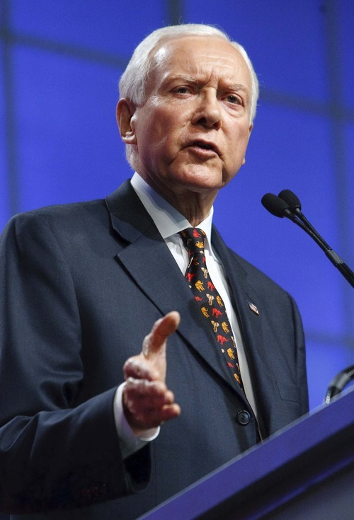 Leah Hogsten  |  The Salt Lake Tribune Sen. Orrin Hatch came up just short of the support needed to claim his party's nomination outright on Saturday. With his flush campaign account, experienced campaign team and public support in the polls, he looks as though he'll be tough to beat.