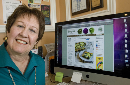 Paul Fraughton | The Salt Lake Tribune Kalyn Denny, a 63-year-old former public school teacher, has helped hundreds of thousands of cooks through her popular food blog, Kalyn's Kitchen. The blog, which gets 50,000 to 60,000 hits every day, offers gourmet recipes that fit the South Beach Diet.