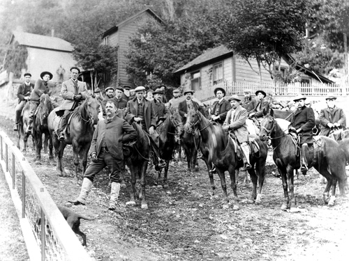 Inspectors headed to the Tooele smelter in 1903.