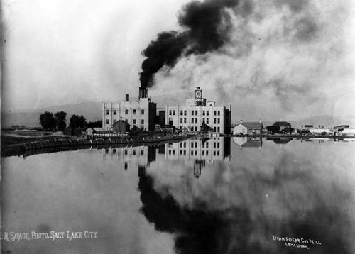 Utah Sugar Cos. mill in Lehi, Utah 1891