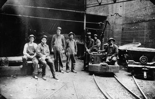 Electric trolley at the Yampa Smelting Co. in 1908.