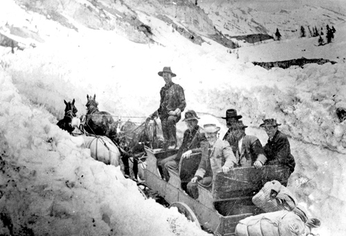Miners headed to the Alta mine in 1899.