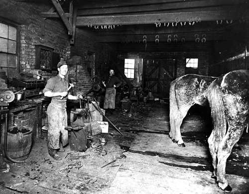 Pendelton and Watts Blacksmith Shop located at 428 S. State in Salt Lake City.  Undated photo