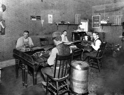 Cigar factory in Salt Lake City in 1897