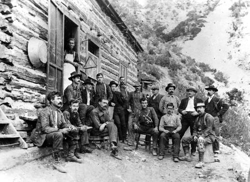 Boarding house at the Buckhorn mine in Ophir, Utah 1903
