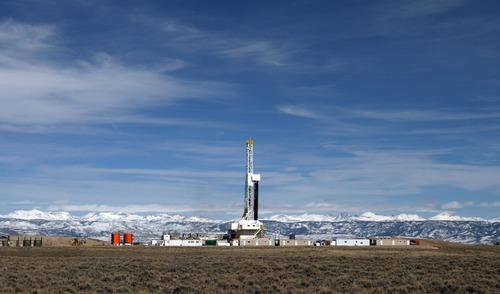 Rick Egan  | The Salt Lake Tribune   A natural gas planet, near Pinedale, Wyo., Wednesday, March 21, 2012.