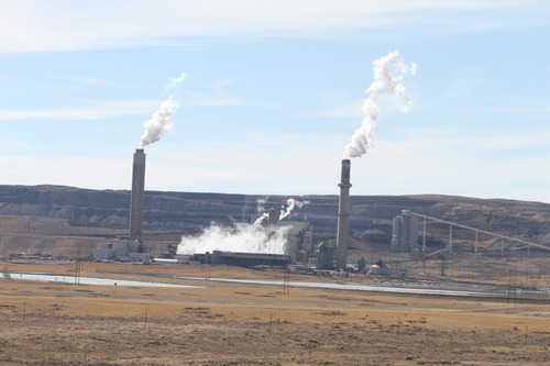 Rick Egan  | The Salt Lake Tribune   A power plant, near Pinedale, Wyo., Wednesday, March 22, 2012.