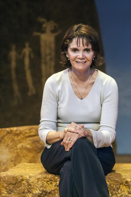 Chris Detrick  |  The Salt Lake Tribune Writer Kathleen Cahill poses for a portrait on the set of