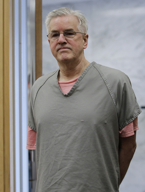 Steve Powell appears in a Pierce County Superior Court hearing, Monday, April 23, 2012, in Tacoma, Wash. Powell's attorney said Monday that investigators frustrated by their unsuccessful quest to find Powell's missing daughter-in-law pursued an