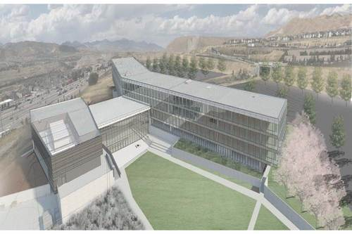 Image Courtesy of Adobe A rendering of Adobe's new campus in Lehi, Utah. The 280,000 square-foot building is set to be completed in late 2012.