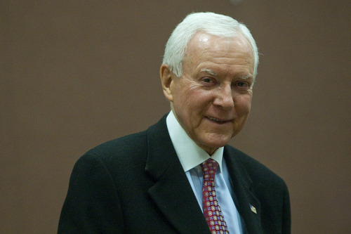 Chris Detrick     Tribune file photo U.S. Sen. Orrin Hatch's Judiciary Committee colleagues praised him Thursday for being the longest-serving Republican in the panel's history.