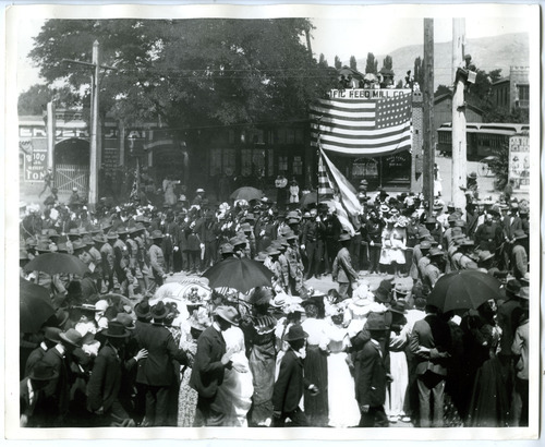 Tribune File Photo This undated photo shows a parade held for Utah soldiers upon their return from the Philippines after the Spanish-American War. The photo was taken on South Temple near 300 West in Salt Lake City.
