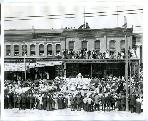 Tribune File Photo This undated photo shows a parade held for Utah soldiers upon their return from the Philippines after the Spanish-American War. The parade was held on South Temple in Salt Lake City.