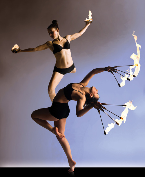 Allison Spehar and Dawn Levingston with Samba Fogo.  Photo by Chelsea Rowe Photography.