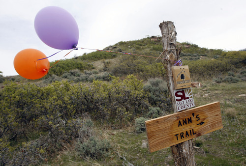 Francisco Kjolseth  |  The Salt Lake Tribune Salt Lake County and Draper City celebrate the opening of trails that connect thousands of acres in Corner Canyon and Little Valley through a tunnel under Traverse Ridge Road. The new parcel of land called